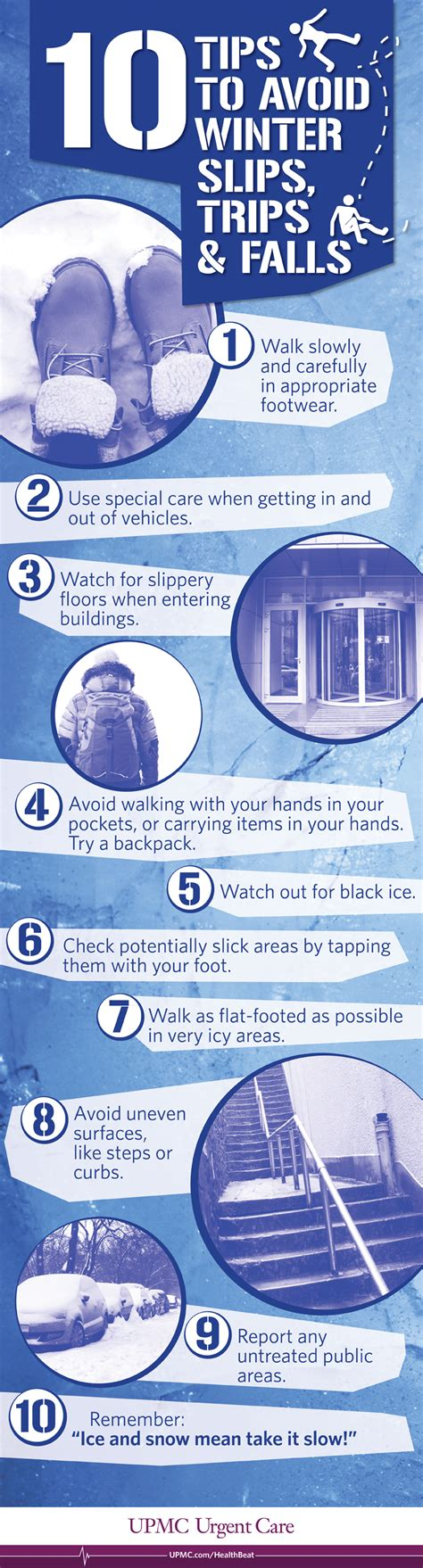 10 Tips To Avoid Winter Slips, Trips, And Falls Upmc