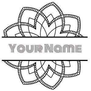 printable mandalas     monogram