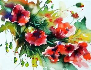 Aquarell Malen Blumen : bild aquarell pflanzen blumen von felischa bei kunstnet ~ Articles-book.com Haus und Dekorationen