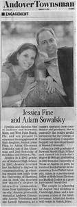 Jessica and adam august 19 2012 newspaper engagement for Wedding announcement ideas for newspaper