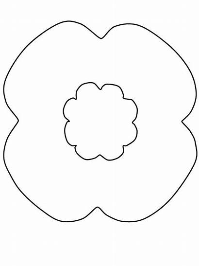 Coloring Remembrance Template Poppy Templates Poppies Colouring