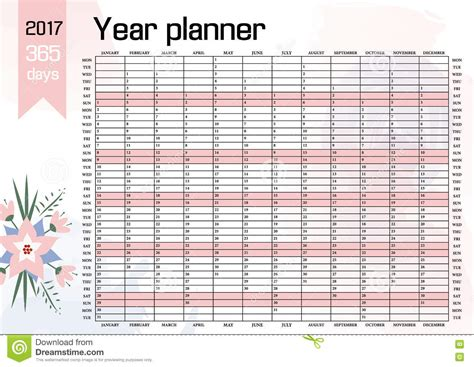 2017 calendar planner yearly planning calendar template for 2017 2018