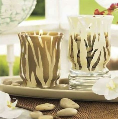 easy  creative decorating ideas  glass candle holders