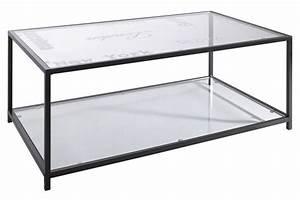 Table Basse Metal Verre : table basse metal et verre table contemporaine maisonjoffrois ~ Mglfilm.com Idées de Décoration