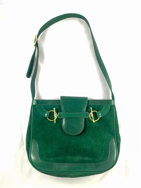 rare gucci emerald green shoulder bag   stdibs