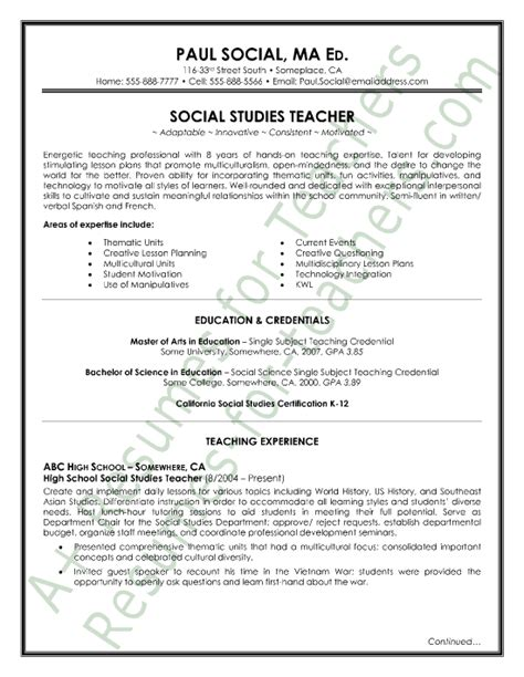 resumes samples  teachers  india httpwww