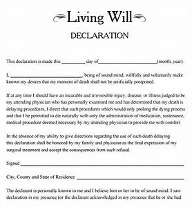 Download A Will Template Sample Living Will 8 Documents In Pdf