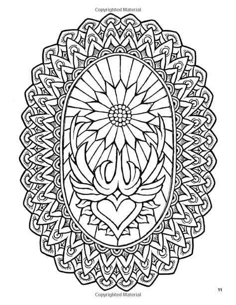 Fantasy Flowers Coloring Book No. 1: 24 Designs in Elaborate Oval … | Adult Coloring Therapy