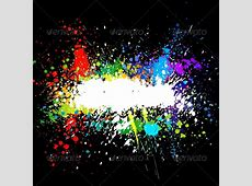 Color paint splashes Gradient vector background by