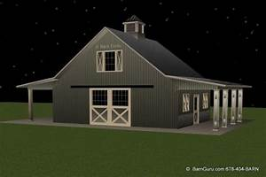 2 stall horse barn plan with loft barn builder in north ga With 5 stall horse barn