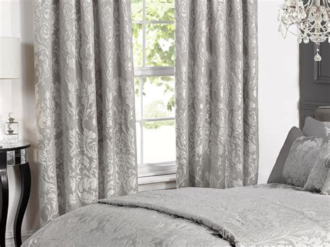 Deluxe Boston Jacquard Damask Lined Curtains In Grey Best Hardwood Floor For Kids Stick Vacuums Floors Flooring Santa Monica Natural Cleaners Click On Walls Mop Los Angeles