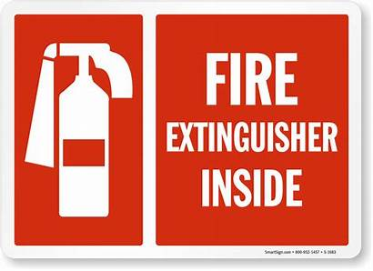 Extinguisher Fire Sign Inside Signs 1683 Emergency