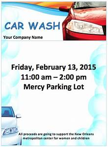 car wash flyer template free flyer templates With car wash poster template free