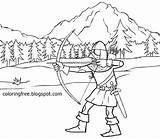 Hood Arrow Medieval Dark Coloring Bow Pages Hunting Robin Ages Drawing Printable Warrior Dear Vikings Teenagers Templates Template Woodland Sketch sketch template