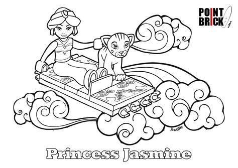 disegni da colorare lego disney princess princess