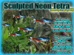 Second Life Marketplace Neon Tetra sculpted free