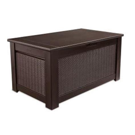 rubbermaid 93 gal bridgeport resin storage bench deck box