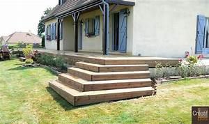 Escalier Extérieur En Bois : escalier d 39 angle en bois saint priest la plaine creuse ~ Dailycaller-alerts.com Idées de Décoration