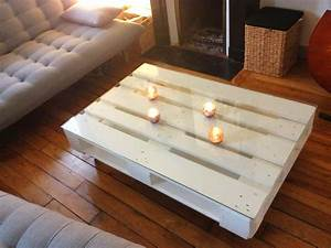 Table Basse Palettes : table basse en palette de bois diy table basse palette ~ Melissatoandfro.com Idées de Décoration