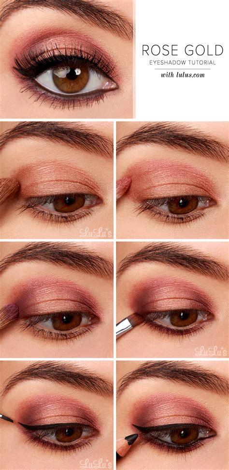 lulus   rose gold eyeshadow tutorial luluscom fashion blog