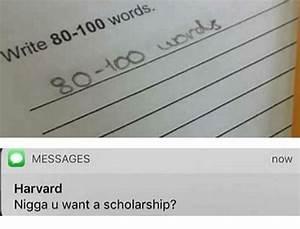 Write 80-100 Words 30 MESSAGES Harvard Nigga U Want a ...