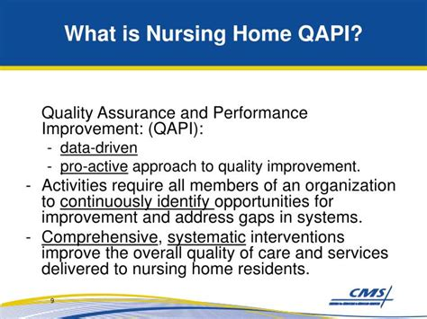 qapi templates ppt quality assurance and performance improvement qapi in nursing homes qm s antip