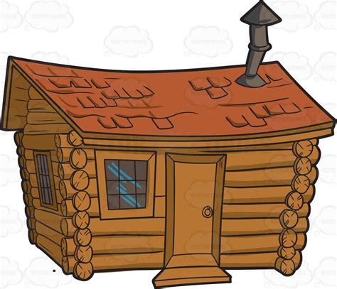 Cabin Clipart A Cabin In The Woods Clipart Vector