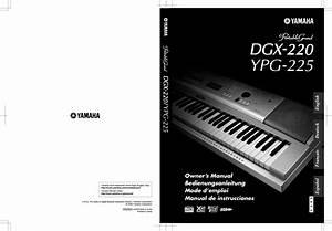 Yamaha Dgx 220 Ypg 225 Owner U0026 39 S Manual Dgx220 Es