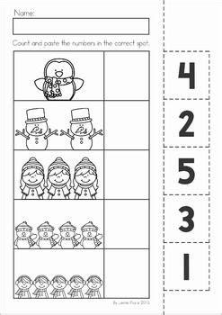winter preschool no prep worksheets activities