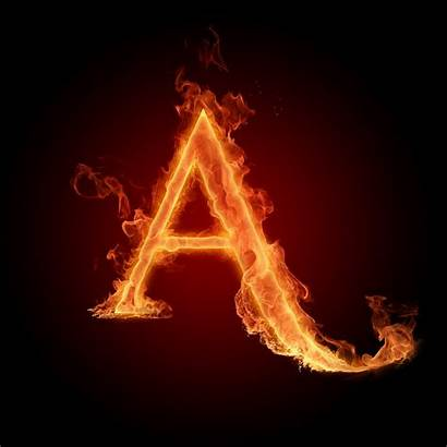 Letter Wallpapers Letters Fire