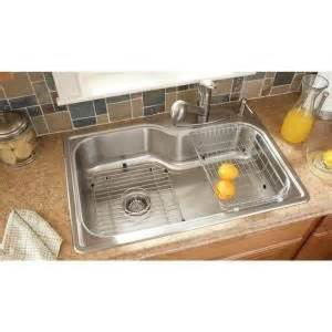 glacier bay all in one kitchen sink glacier bay all in one top mount stainless steel 33x22x8 4 9224