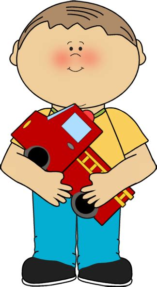 Boy Clipart Boy With A Firetruck Clip Boy With A Firetruck Image