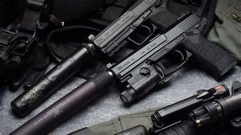 wallpaper heckler koch mark  pistol silencer
