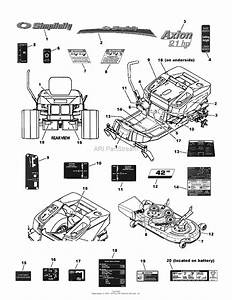 Simplicity 7800612  42 U0026quot  Mower Parts Diagram For Decal Group