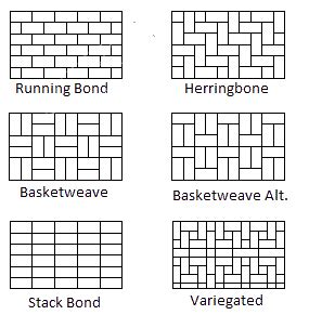 different types of brick patterns services