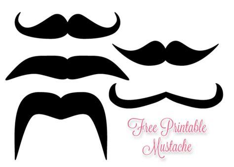 mustache template printable mustache printable clipart best