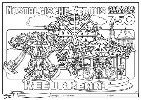 Kermis Kleurplaat by Kleurplaat Kermis