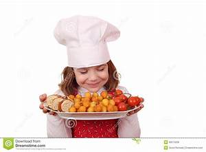 Little Girl Cook Smell Food Royalty Free Stock Photos ...