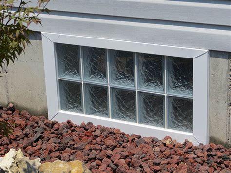 Window Glass How To Install Glass Block Basement Windows