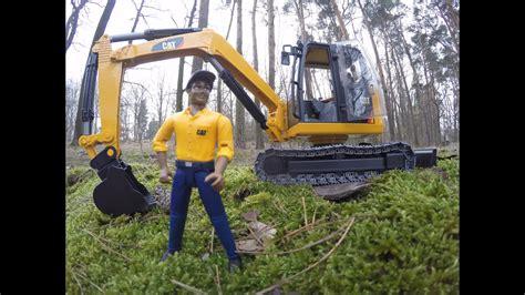bruder toys   cat mini excavator youtube