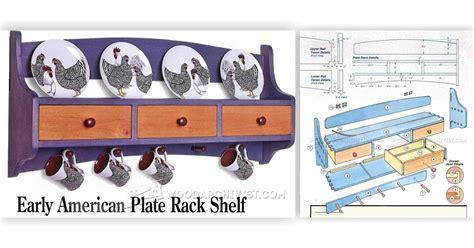 plate rack shelf plans woodarchivist