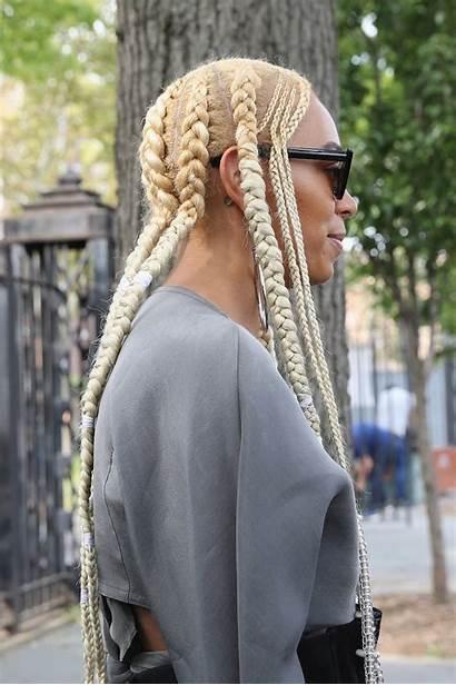 Blonde Solange Hair Platinum Braid Hairstyles Braids