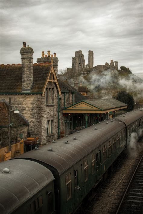 steam train  corfe castle england photo  sunsurfer