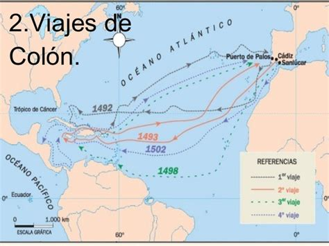 Rutas De Los Barcos De Cristobal Colon by Colon Este
