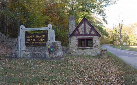 sam a baker cabins sam a baker state park missouri state parks