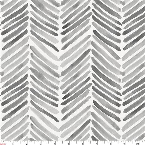 Gray Painted Chevron Fabric By The Yard  Gray Fabric