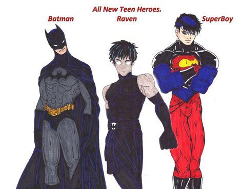 batman raven superboy by wizardbane on deviantart
