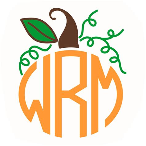 Monogram maker is a free online design tool empowering you to produce outstanding monograms easily and quickly. Pumpkin Monogram Frame SVG Cuttable