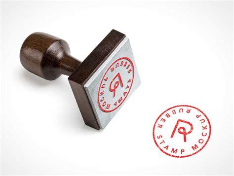 stationery square rubber stamp psd mockup psd mockups