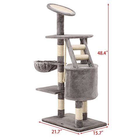 cat tower with hammock ollieroo 48 quot h cat climbing tree tower condo scratcher